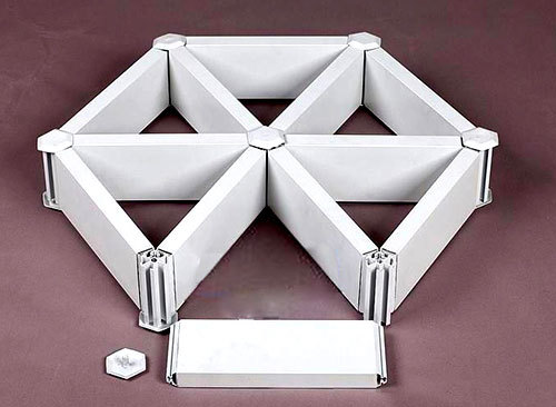 型材三角型铝格栅