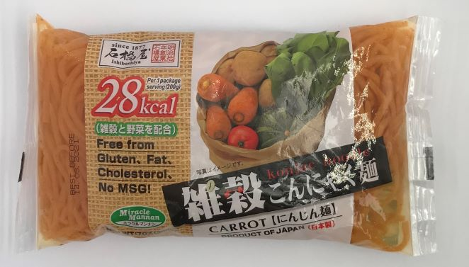石橋屋小米魔芋面(胡蘿蔔)