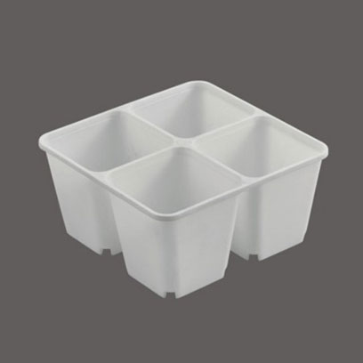 4 Cell Plastic Seedling Tray Wholesale