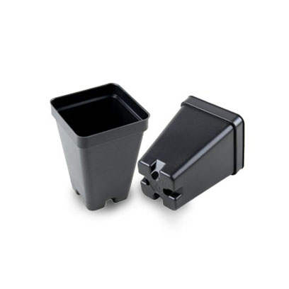Tiny Square Black Plastic Plant Pots In Bulk
