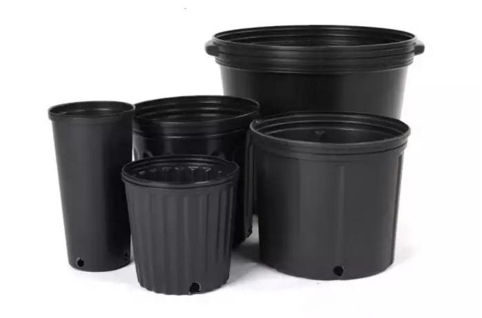 Large Black 10 Gallon Plastic Plant Pots In Bulk