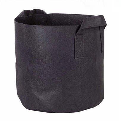 Black 1 Gallon Fabric Grow Bags Wholesale
