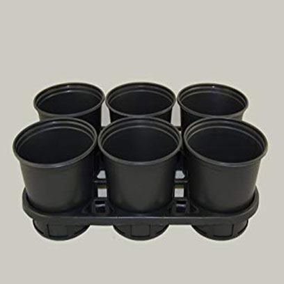 Small Black Plastic Garden Plant Pots Wholesale