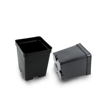 4 Inch Square Black Plastic Plant Pots Bulk Buy