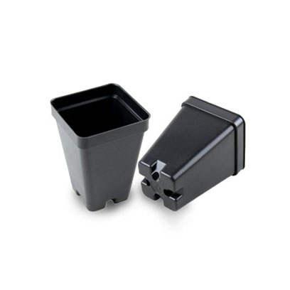 Small Square 2.5 Inch Plastic Plant Pots
