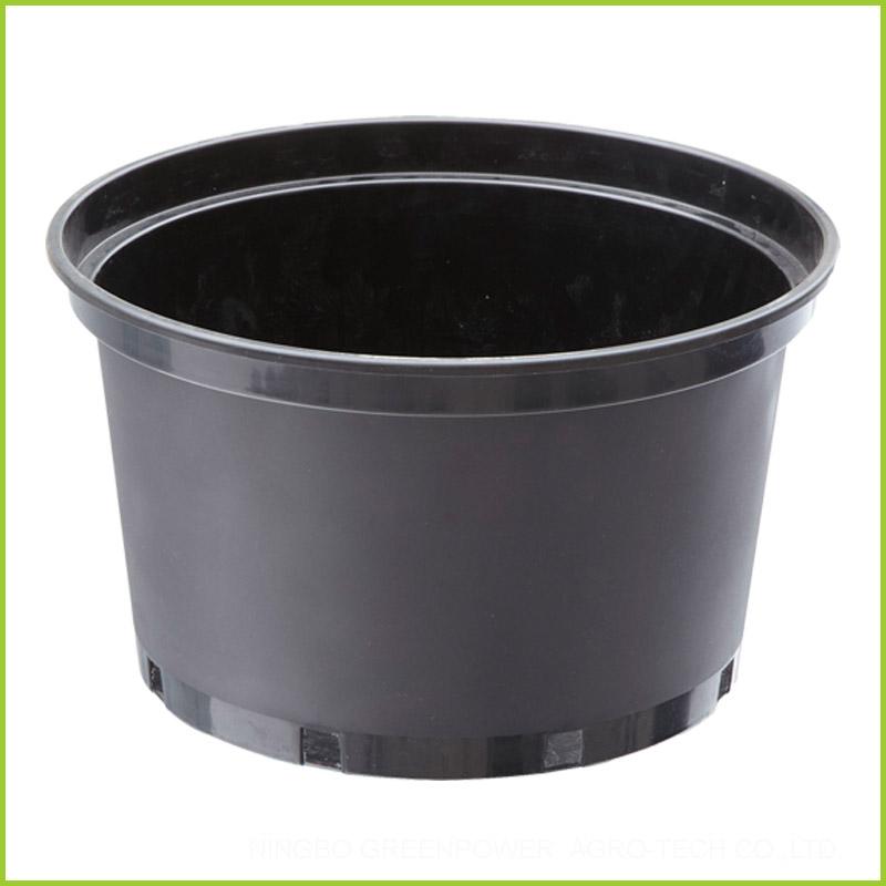 Cheap Black Plastic Plant Pots 25cm Wholesale Supplier