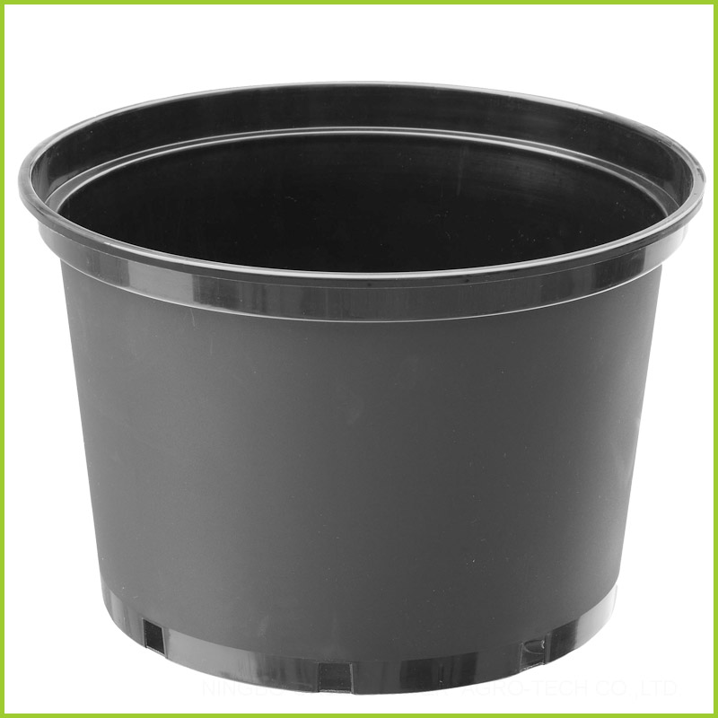 15 Inch Large Black Plastic Plant Pots Wholesale