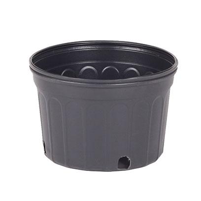 Commercial 2 Gallon Shallow Plastic Plant Pots