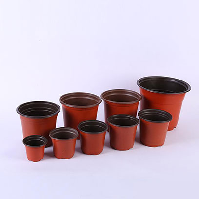 Mini Heavy Duty Plastic Terracotta Plant Pots