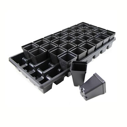 Cheap 2.5 Inch Square Plastic Plant Pots Wholesale