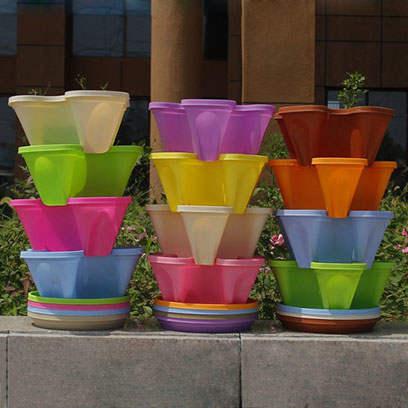 Large Black Plastic Flower Pots Manufacturers