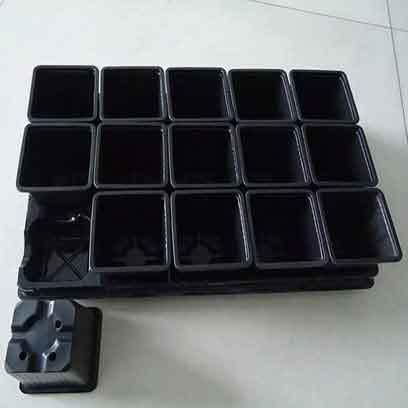Cheap Plastic 4 Inch Square Nursery Pots Manufacturer