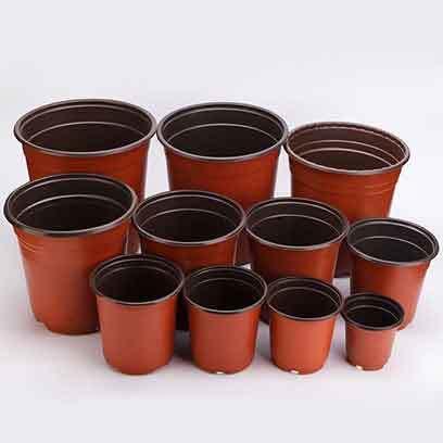 plastic terracotta pots