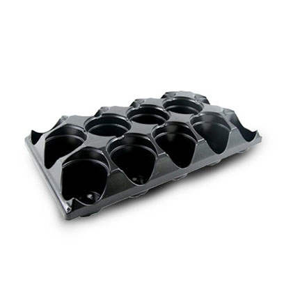 Plastic ST433-15 round carry trays