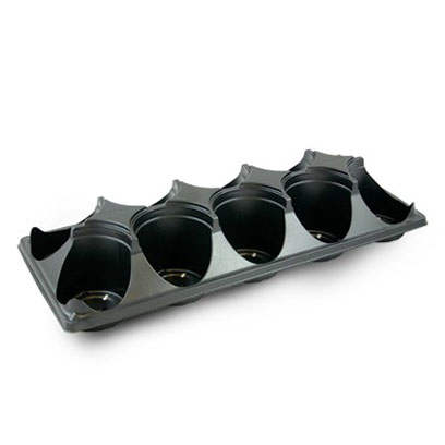 Plastic ST433W-10 round carry trays