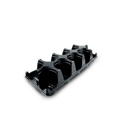 Plastic ST470D-10 round carry trays