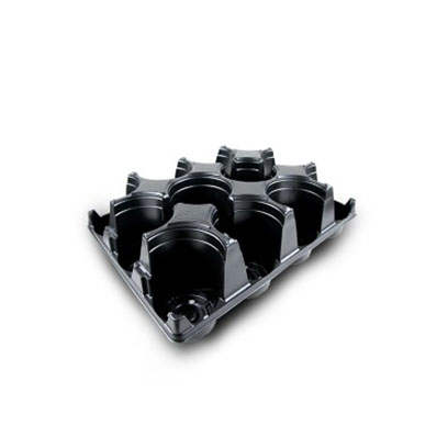 Plastic ST470D-12 round carry trays