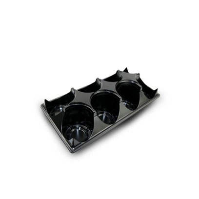 Plastic ST525-8 round carry trays