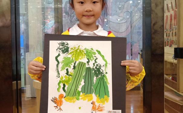 卫斯塔创意美术作品-小小青龙藤上挂-5