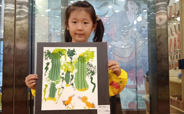 卫斯塔创意美术作品-小小青龙藤上挂-6