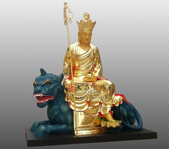 地藏菩萨贴金佛像