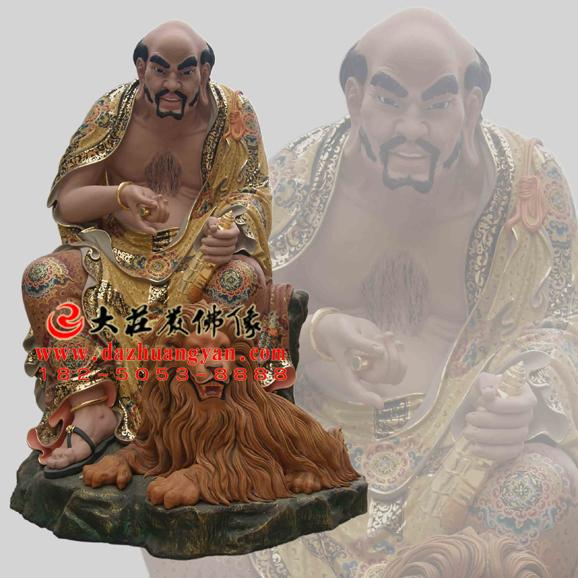 铜雕半托迦尊者彩绘塑像