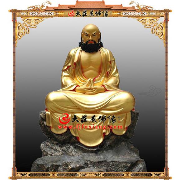 达摩祖师贴金塑像