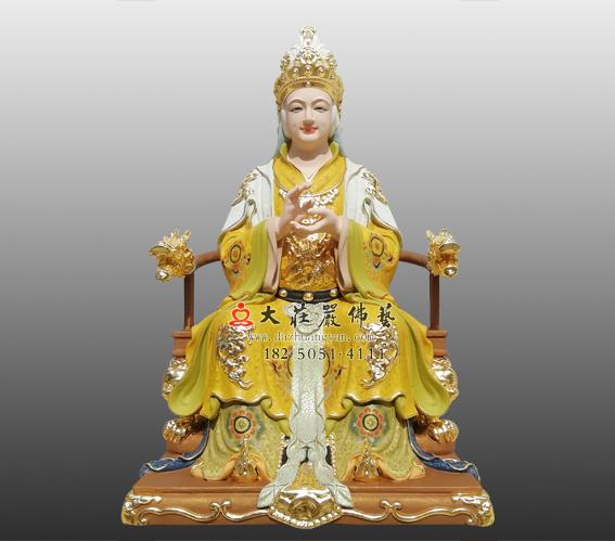 铜雕老太君彩绘神像