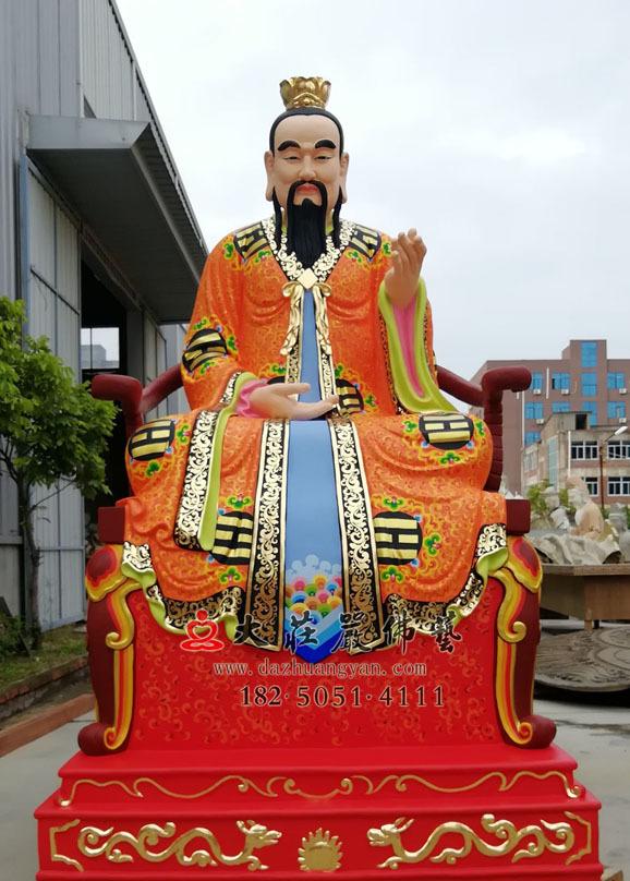三清之灵宝天尊彩绘神像