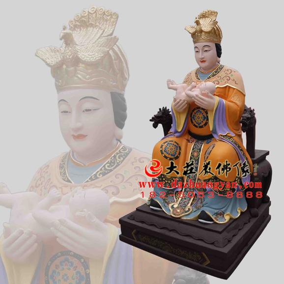 催生娘娘彩绘神像