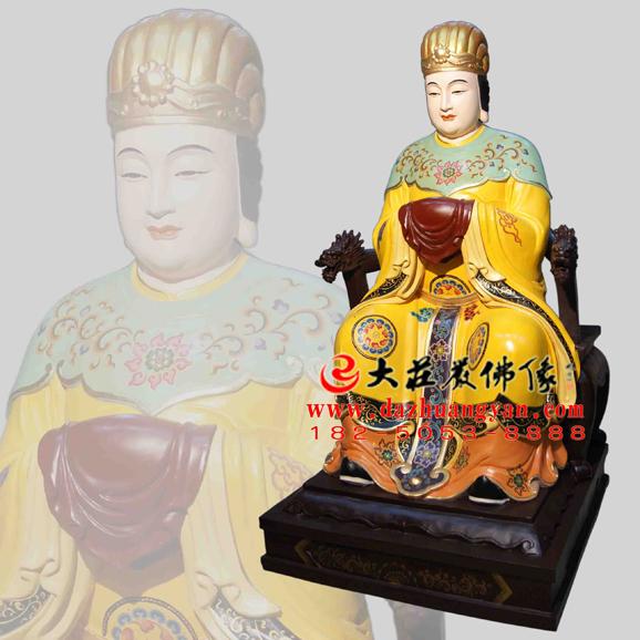 斑疹娘娘彩绘神像