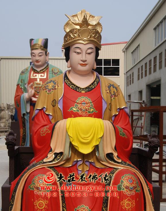 后土娘娘彩绘神像
