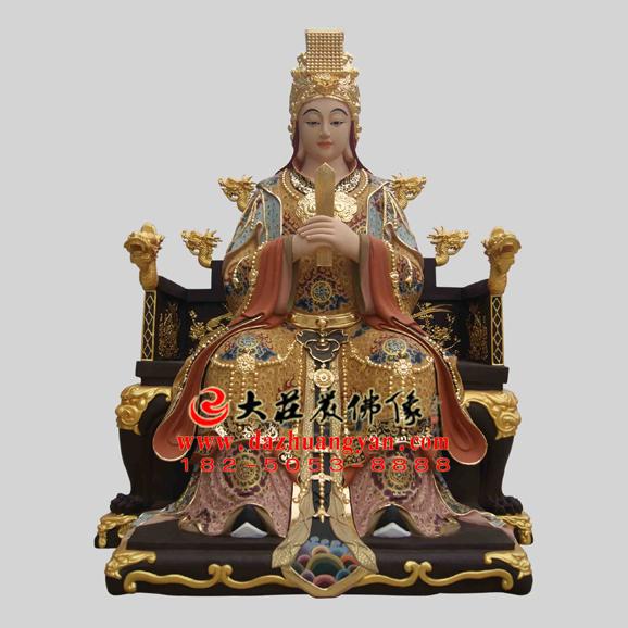 铜雕李三娘彩绘神像