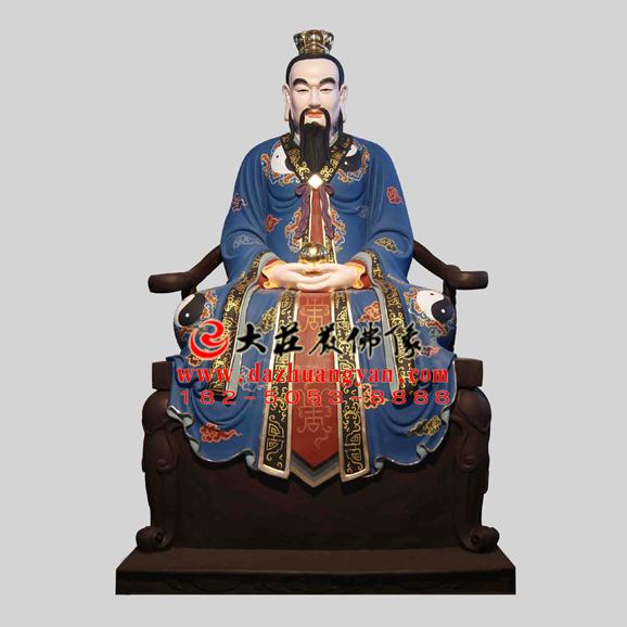 铜雕三清天尊彩绘神像