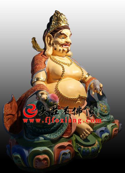 黄财神彩绘塑像