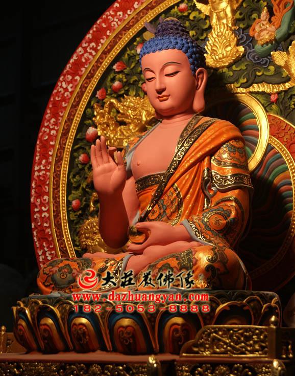 脱胎五方佛之西方阿弥陀佛侧面佛像
