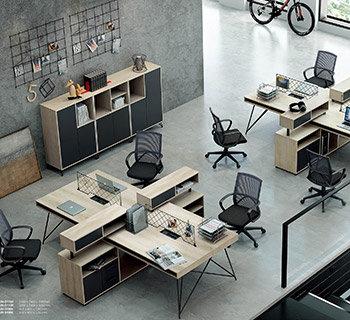 几何系列高端办公桌