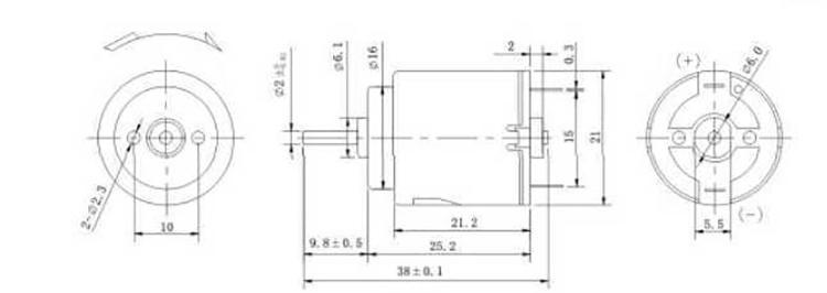 12v直流电机外形尺寸