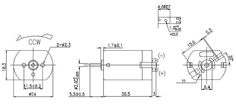 直流电机外观尺寸
