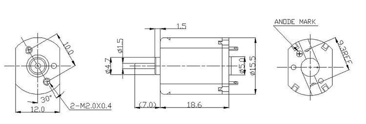 智能调速电机尺寸图