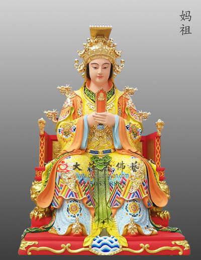 铜雕妈祖神像