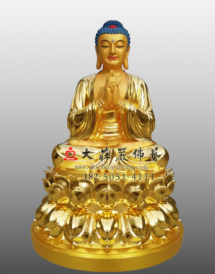 铜雕贴金毗卢遮那佛