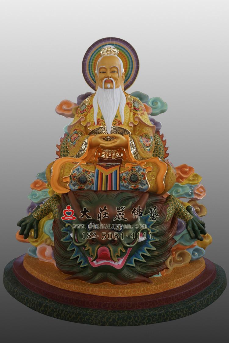 鸿钧老祖彩绘塑像