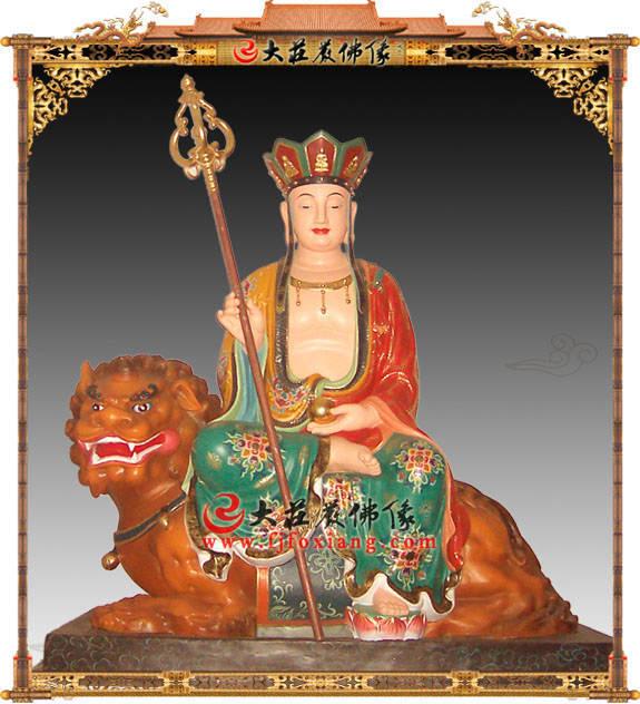地藏王菩萨彩绘铜像