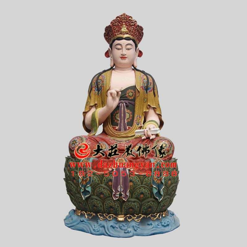 彩绘铜像文殊菩萨