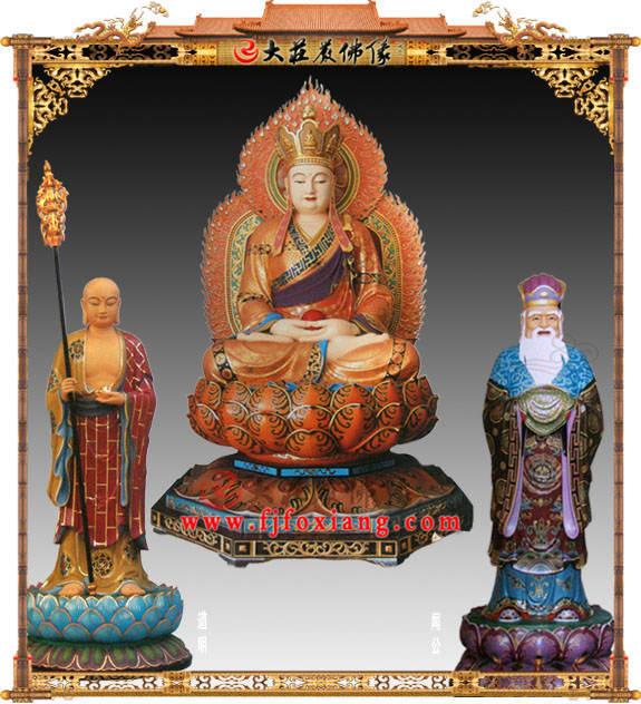 铜雕大愿地藏王菩萨彩绘塑像