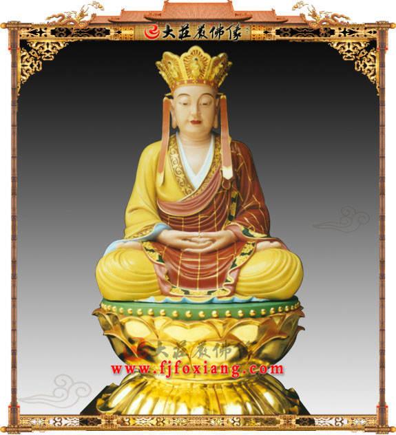 铜像地藏王菩萨彩绘描金塑像