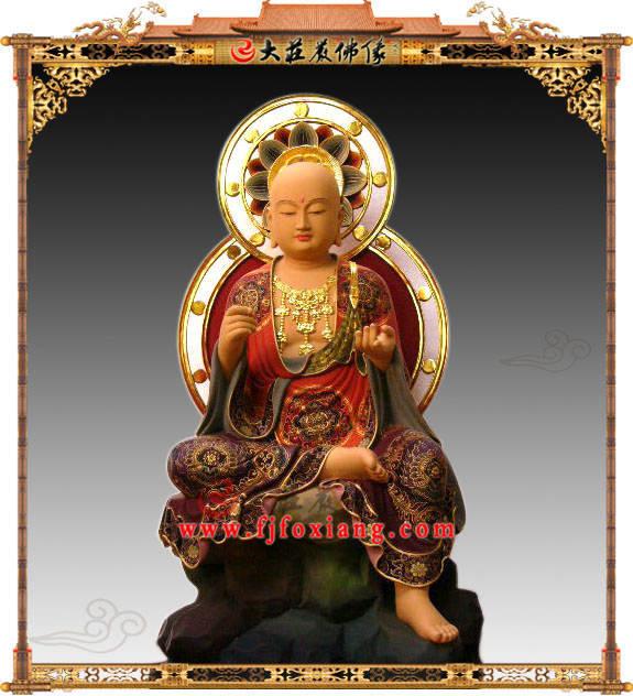 铜雕地藏菩萨半迦像