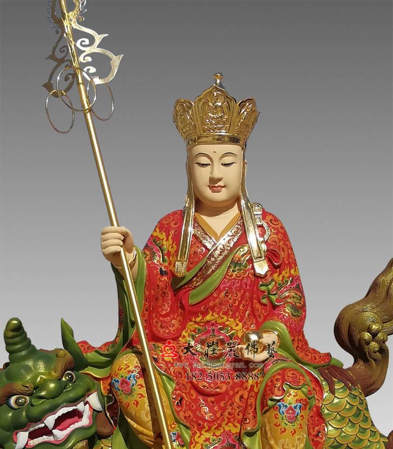 铜雕地藏菩萨彩绘佛像