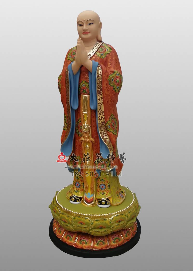 铜像道明侧面彩绘塑像
